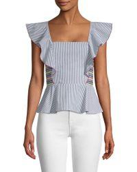 4fc856e3bac1b9 Sea. Solange Ruffle Shirt. £430. Farfetch · Parker - Solange Striped  Smocked Top - Lyst