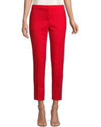 ESCADA Talass Stretch-wool Ankle Pants - Red