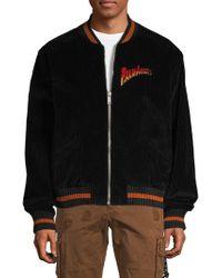 Palm Angels Velvet Souvenir Baseball Jacket - Black