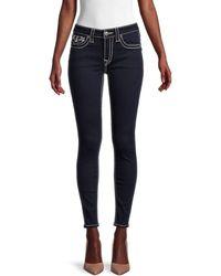 True Religion Jennie Big T Mid-rise Curvy Skinny Ankle Jeans - Blue