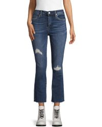 Blank NYC Destroyed Boot Cut Jeans - Blue