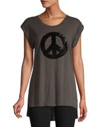 Kenneth Cole - High-low Graphic Tank Top - Lyst