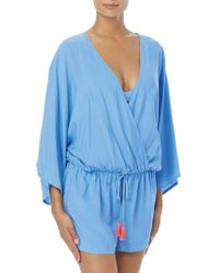 Vince Camuto - Drawstring Coverup Romper - Lyst