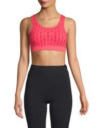 Betsey Johnson - Knit Textured Sports Bra - Lyst