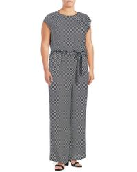 a9833e0a834e Lyst - Vince Camuto Embellished Jumpsuit in Black