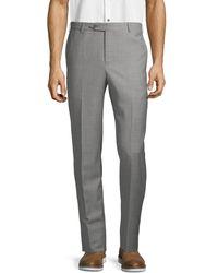 Zanella Men's Wool Trousers - Dark Beige - Size 36 - Natural
