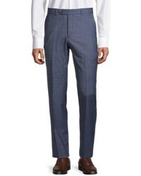 Tommy Hilfiger Modern-fit Wool-blend Suit Separates Trousers - Blue