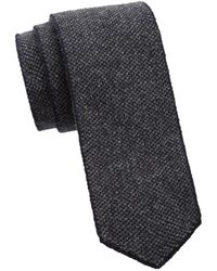 Saks Fifth Avenue Men's Collection Two-tone Cashmere Knit Tie - Burgundy - Red