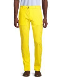 Greyson Men's Montauk Flat-front Trousers - Hawk - Size 34 32 - Yellow