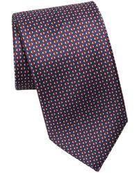 Brioni - Geometric Silk Tie - Lyst