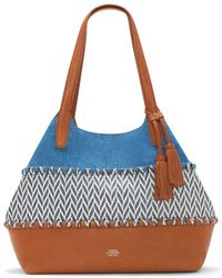 Vince Camuto - Edena Patterned Leather Tassel Tote - Lyst