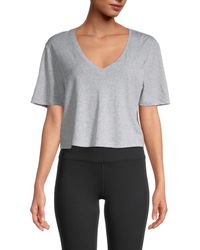 The Upside Annie Cropped T-shirt - Grey