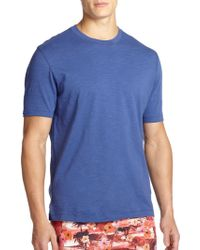 Saks Fifth Avenue - Collection Slub Crewneck Tee - Lyst
