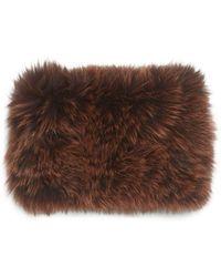 La Fiorentina - Fur Headband - Lyst
