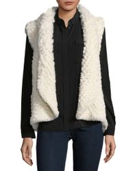 Love Token - Ali Faux Fur Cropped Vest - Lyst