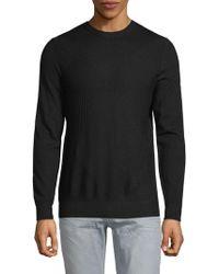 Pure Navy - Geometric Crewneck Sweater - Lyst