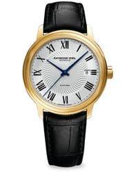 Raymond Weil Men's Maestro Stainless Steel & Leather-strap Automatic Watch - Metallic
