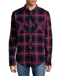 PRPS Plaid Cotton Button-down Shirt - Multicolour