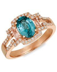 Le Vian Women's 14k Strawberry Gold® & Multi-stone Ring - Size 7 - Metallic