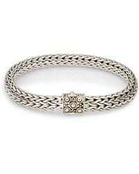 John Hardy - Dot Sterling Silver & 18k Yellow Gold Bracelet - Lyst