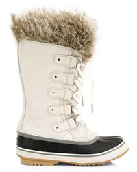Sorel Joan Of Arctic Faux Fur-lined Suede Boots - Brown