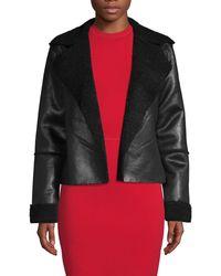 Vigoss Faux Shearling Jacket - Black