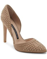 French Connection - Maggie Studded Leather Pumps - Lyst