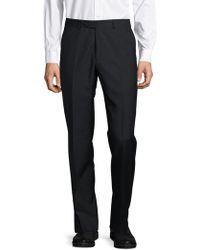 Santorelli - Textured Straight-leg Pants - Lyst