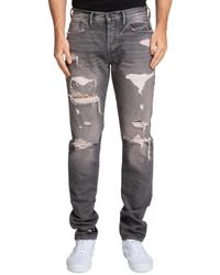PRPS Men's Asbury Park Distressed Slim Jeans - Grey - Size 33