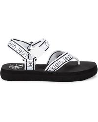 Calvin Klein Women's Mikki Ankle-strap Sandals - Yellow Black - Size 7.5