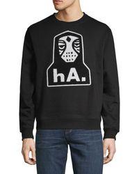 Haculla Nyc Crew Graphic Sweater - Black