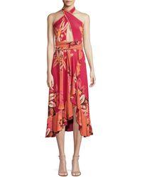 PATBO Carmen Floral Ruffle Dress - Pink