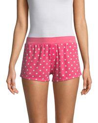 Honeydew Intimates Women's Evie Star Shorts - Poppy Stars - Size L - Red