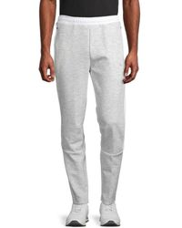PUMA Men's Evo Striped Pants - White - Size L