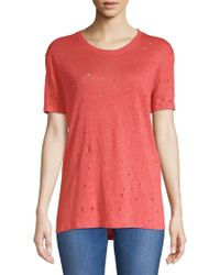 IRO - Clay Distressed Tee - Lyst