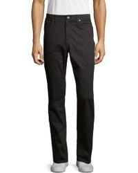 Saks Fifth Avenue 5 Pocket Sateen Pants - Black