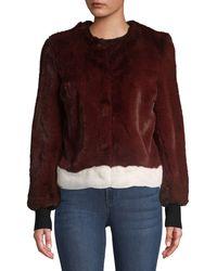 Saks Fifth Avenue Faux-fur Jacket - Purple