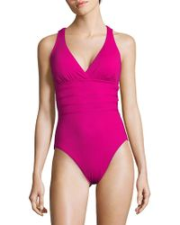 La Blanca - Island Strappy One-piece Swimsuit - Lyst