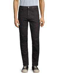 Karl Lagerfeld Studded Skinny Jeans - Grey