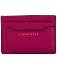 Marc Jacobs Empire City Leather Card Case - Purple