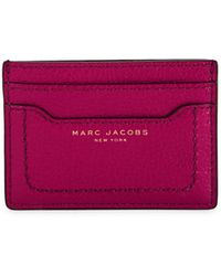 Marc Jacobs Pebbled Leather Card Case - Purple