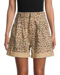 Free People Women's Leopard-print Shorts - Cheetah - Size 25 (2) - Multicolor