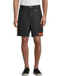 Heron Preston Cargo Shorts - Black
