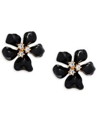 Kenneth Jay Lane - Crystal Flower Stud Earrings - Lyst