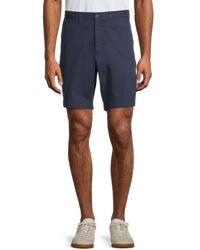 Michael Kors Men's Regular-fit Shorts - Blue Glass - Size 38