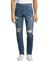 Hudson Jeans Men's Zack Skinny-fit Distressed Jeans - Playa - Size 29 - Blue