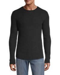 Vince Waffle-knit Pullover - Black