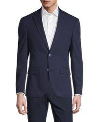 Tommy Hilfiger Men's Slim-fit Seersucker Suit Separates Jacket - Navy - Size 40 S - Blue
