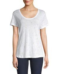 Rails Women's Luna Linen-blend Cactus Tee - White Water - Size S