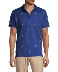Bonobos Men's Slim-fit Performance Golf Shirt - Navy Sprit - Size L - Blue